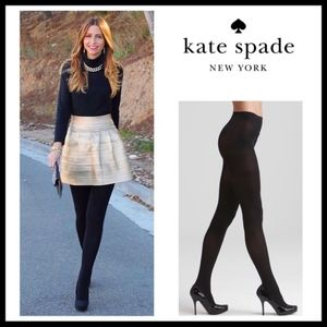 NEW Kate Spade New York Black Opaque Tights S / M